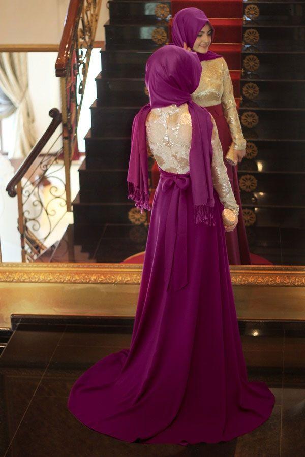 Pinar Sems Hayal Fusya Abiye Muslimah Dress Hijab Wedding Dresses Hijab Fashion
