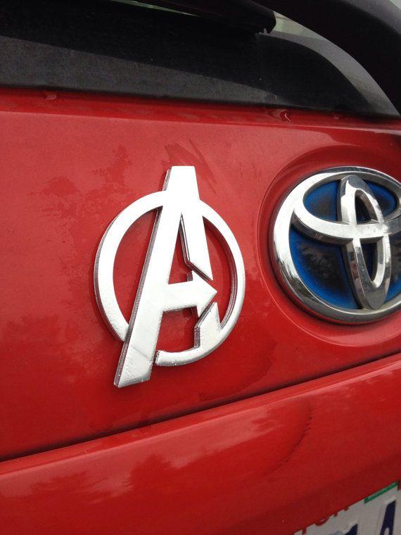 Fanart 3D printed silver Avengers A car decal/logo/magnet