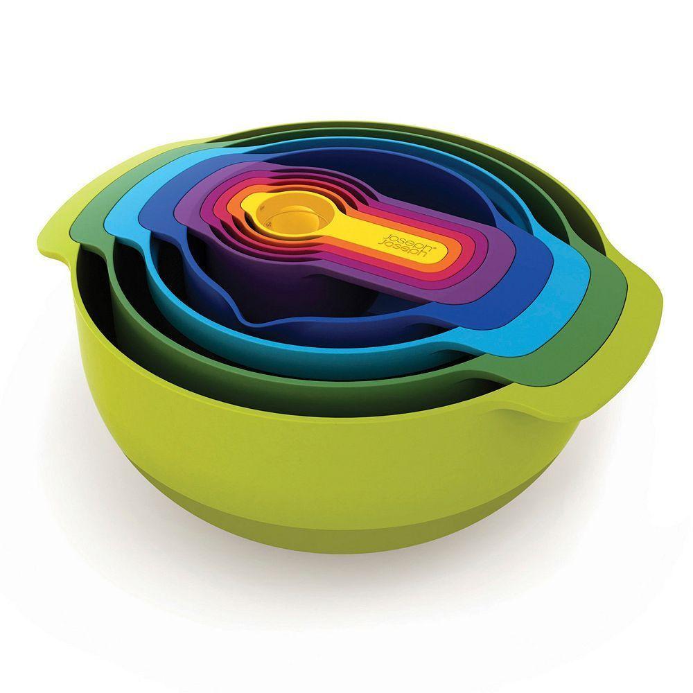 Joseph Joseph 9-pc. Multi-Color Nesting Bowl & Measuring Cup Set, Multicolor