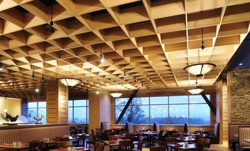 panel enrejado de madera para falso techo cubes rulon company - Falsos Techos De Madera