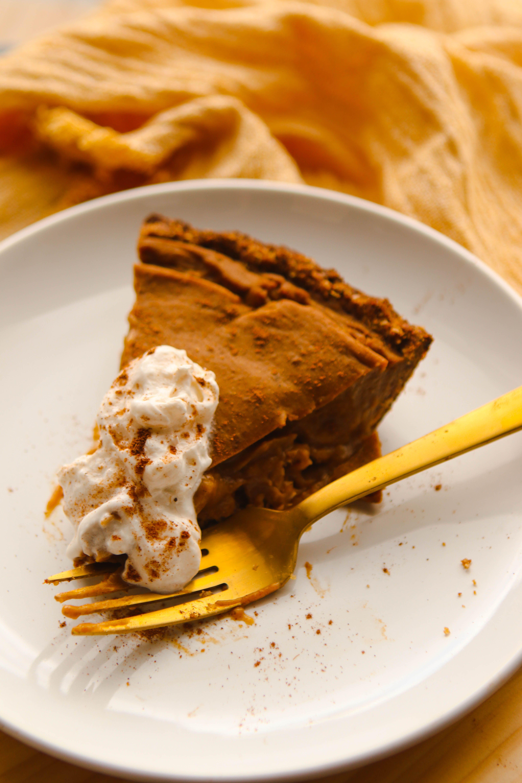 Pecan Pumpkin Custard Pie Vegan Gluten Free From My Bowl Recipe Sugar Free Custard Recipe Pumpkin Custard Custard Pie