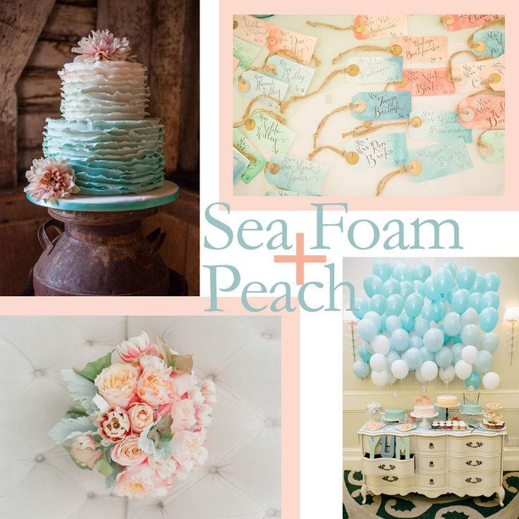 Sea Green And Peach