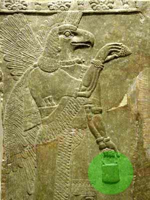 This is a Babylonian stele. Carrying the same little device.