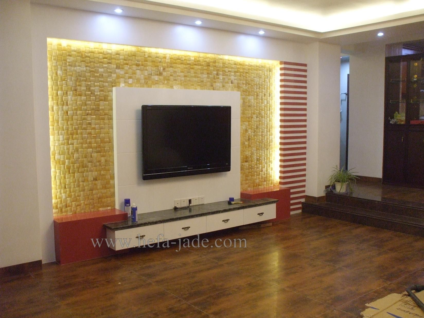 Wall Decoration Ideas Stone : Tv background wall decoration g ? living