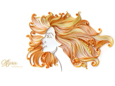 quilling art | Dribbble - Aura- marketing art in paper quilling by Hemali Vadalia