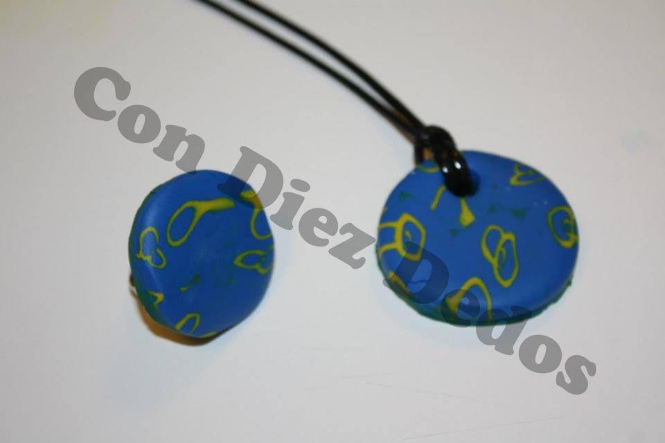 Collar y anillo 4 #fimo #funnyfimo #craft #crafts #artesania