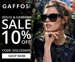 Dolce & Gabbana Days. Use Code: DOLCEDAYS at Checkout and Get 10% OFF For All Dolce & Gabbana Eyewear