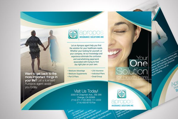 Apropos Insurance Solutions Tri-Fold Flyer Design on Behance ...