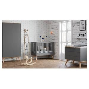 Chambre Complete Lit Bebe 60x120 Commode A Langer Armoire 2