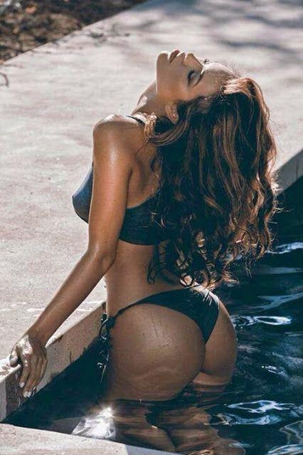 Brunette pussy bent over