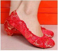 ea138dfc29d love love these little red lace flats