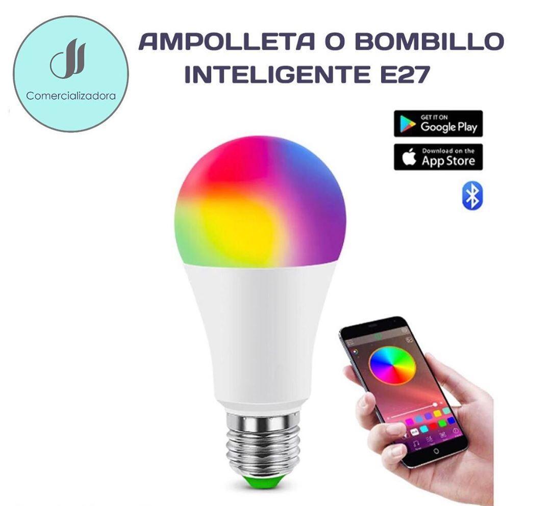 Lampara Inteligente Inalambrica Bluetooth Lampara Inteligente Led E27 Rgb 6w Rgbw Control Ios Android Facil Instalacion 1 Puede In 2020 Google Play App Google