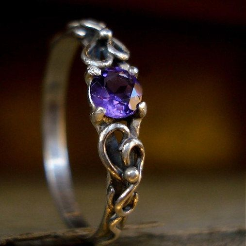 Elvish Wedding Engagement Amethyst Sterling by angelikasAmulets