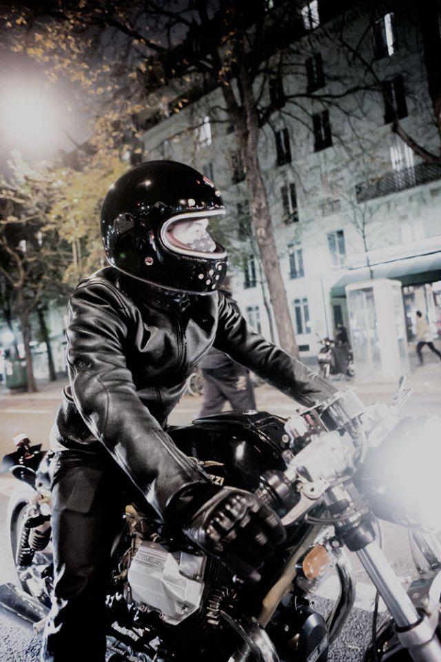 ruby and guzzi man_biker Style cafe