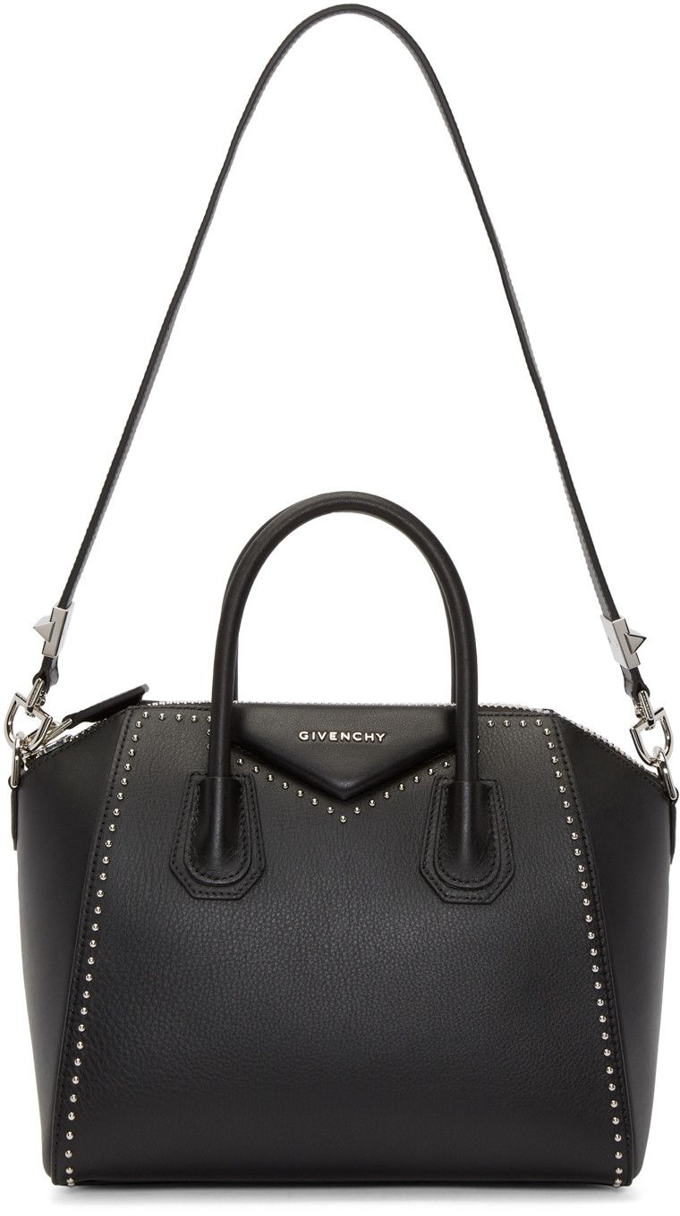 eb5c9ab0abe7 Givenchy - Black Small Studded Antigona Bag