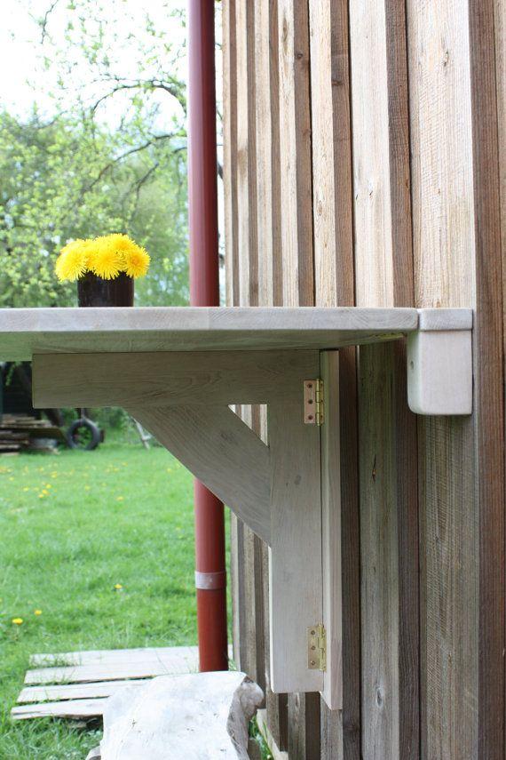 Wall Folding Table In Solid Oak Folding Wall Table