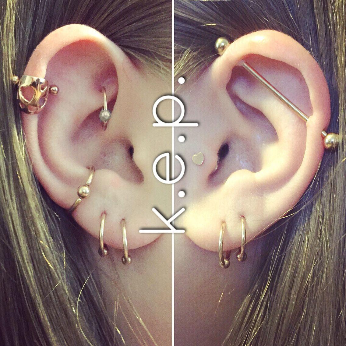 Body Piercing Helix Piercing Rook Piercing Conch Piercing Lobe Piercing Upper Lobe Piercing Industrial Piercing Tragus Jewelry Ear Jewelry Gold Ear Cuff