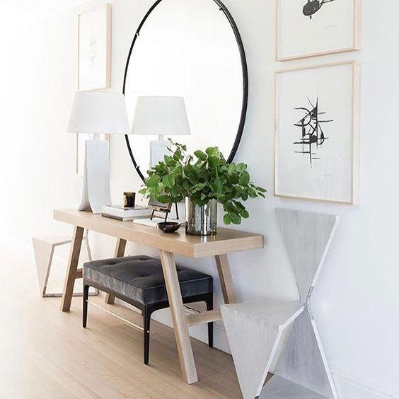 espejos grandes para decorar el recibidor