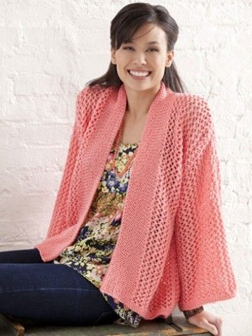 Bright And Breezy Kimono Knit One Purl Two Pinterest Knit