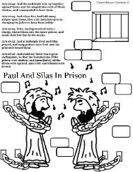 Paul And Silas Coloring Pages Acts 16 22 26 Paul And Silas In