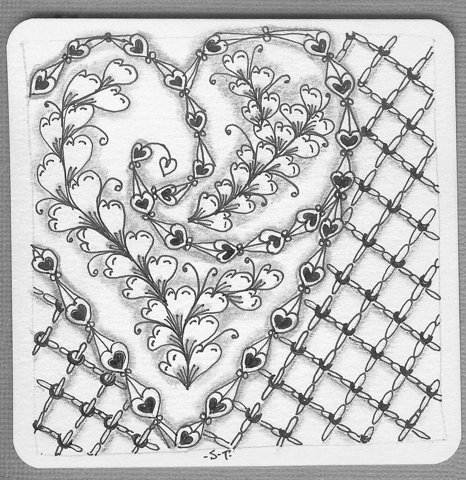 zentanglechallenges  zen zentangle zeichnen