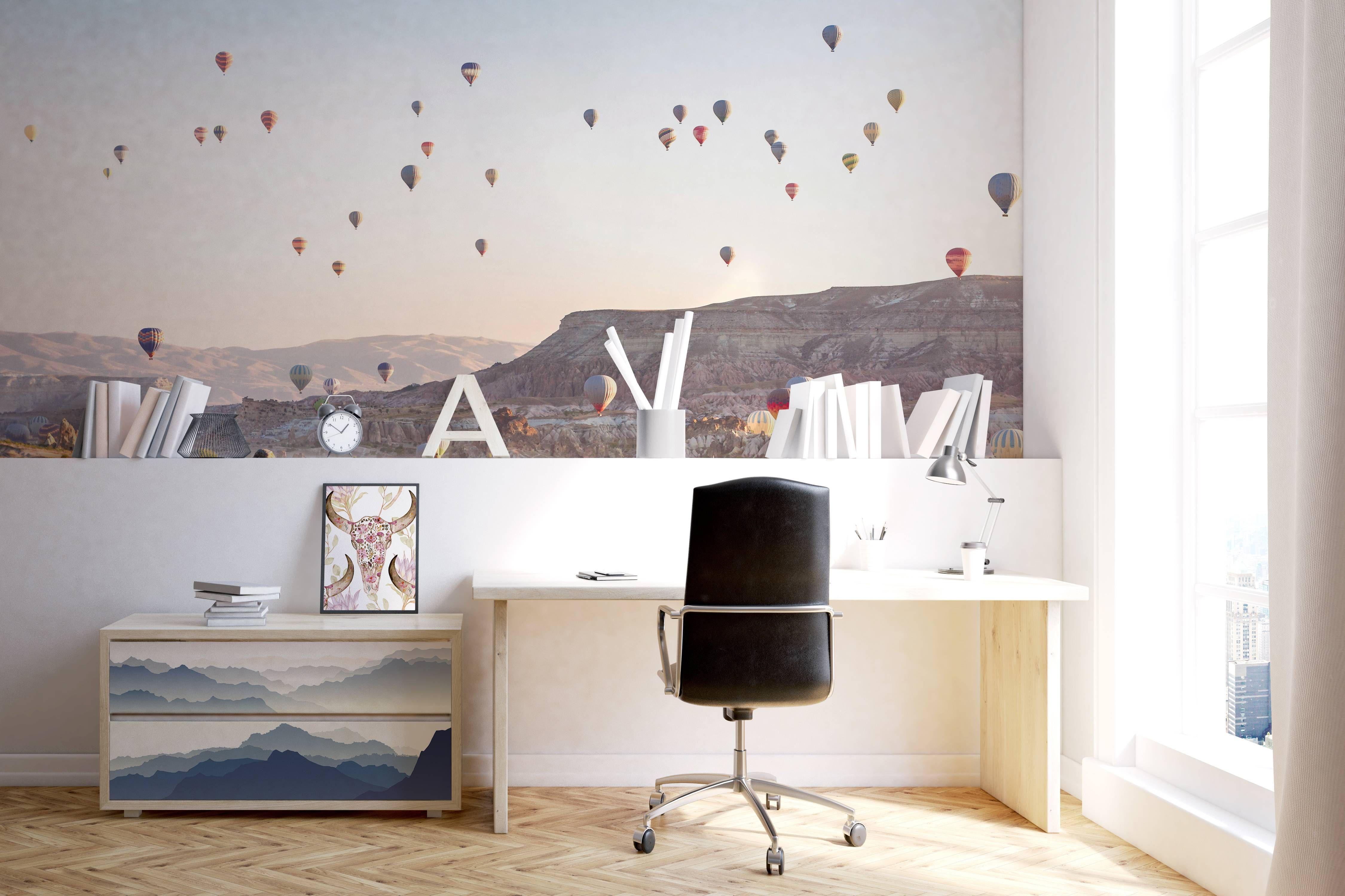 Flight Over Cappadocia Scandinavian  Office  Wall Murals