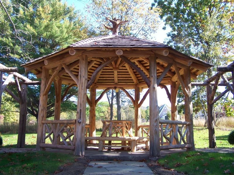 Pictures Of Log Gazebos Custom Made Druskin Gazebo By Natural Edge Custommade Com Backyard Gazebo Outdoor Pergola Garden Gazebo
