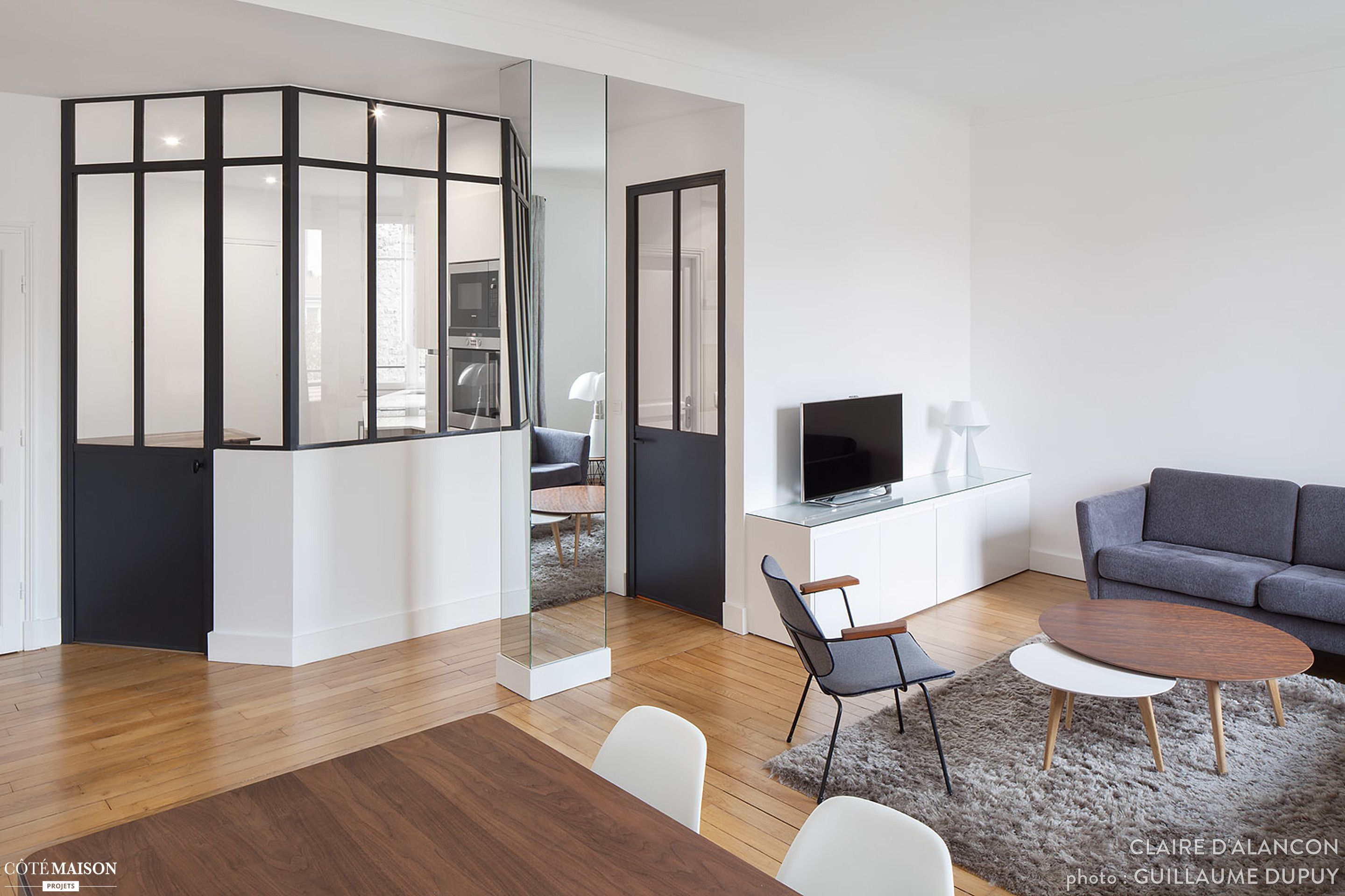Rénovation d\'un appartement haussmannien dans un style contemporain ...