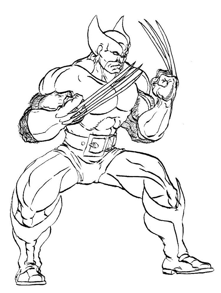 X Men Wolverine Coloring Pages Check more at http