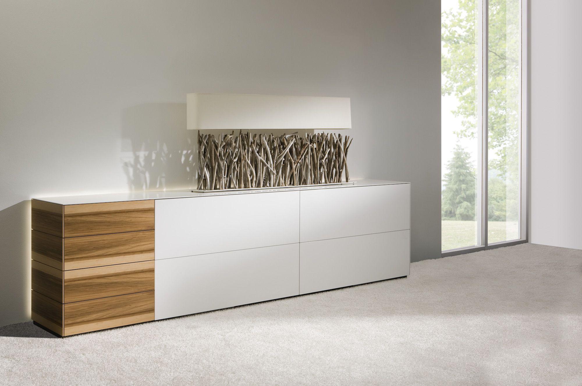 anrichte sideboard schiebet r grifflos wei holz. Black Bedroom Furniture Sets. Home Design Ideas