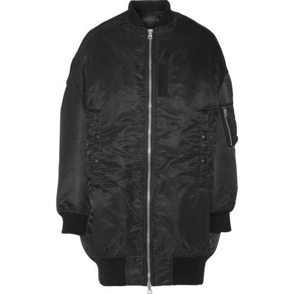 R13 Oversized shell bomber jacket (3,380 ILS) ❤ liked on Polyvore featuring outerwear, jackets, floral print jacket, flower print bomber jacket, zipper jacket, bomber style jacket and feather jacket
