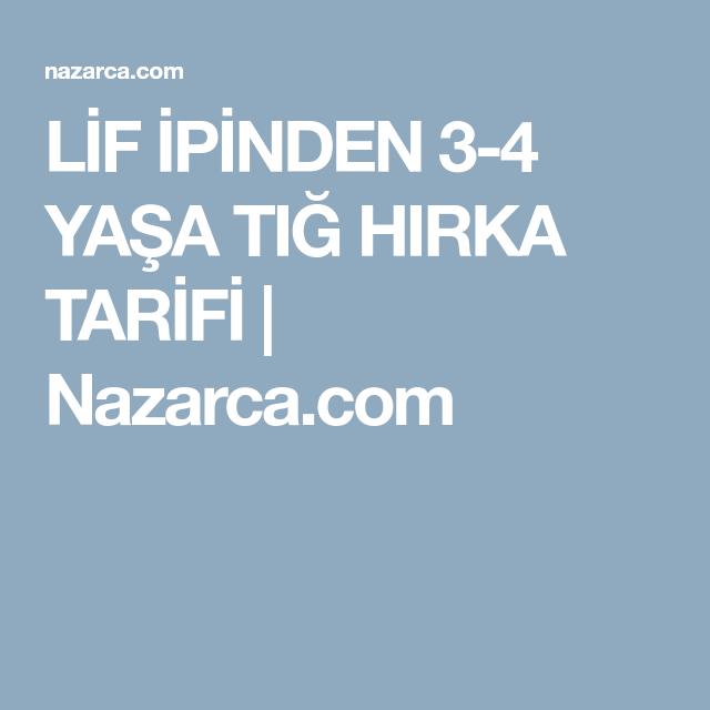 LİF İPİNDEN 3-4 YAŞA TIĞ HIRKA TARİFİ 15