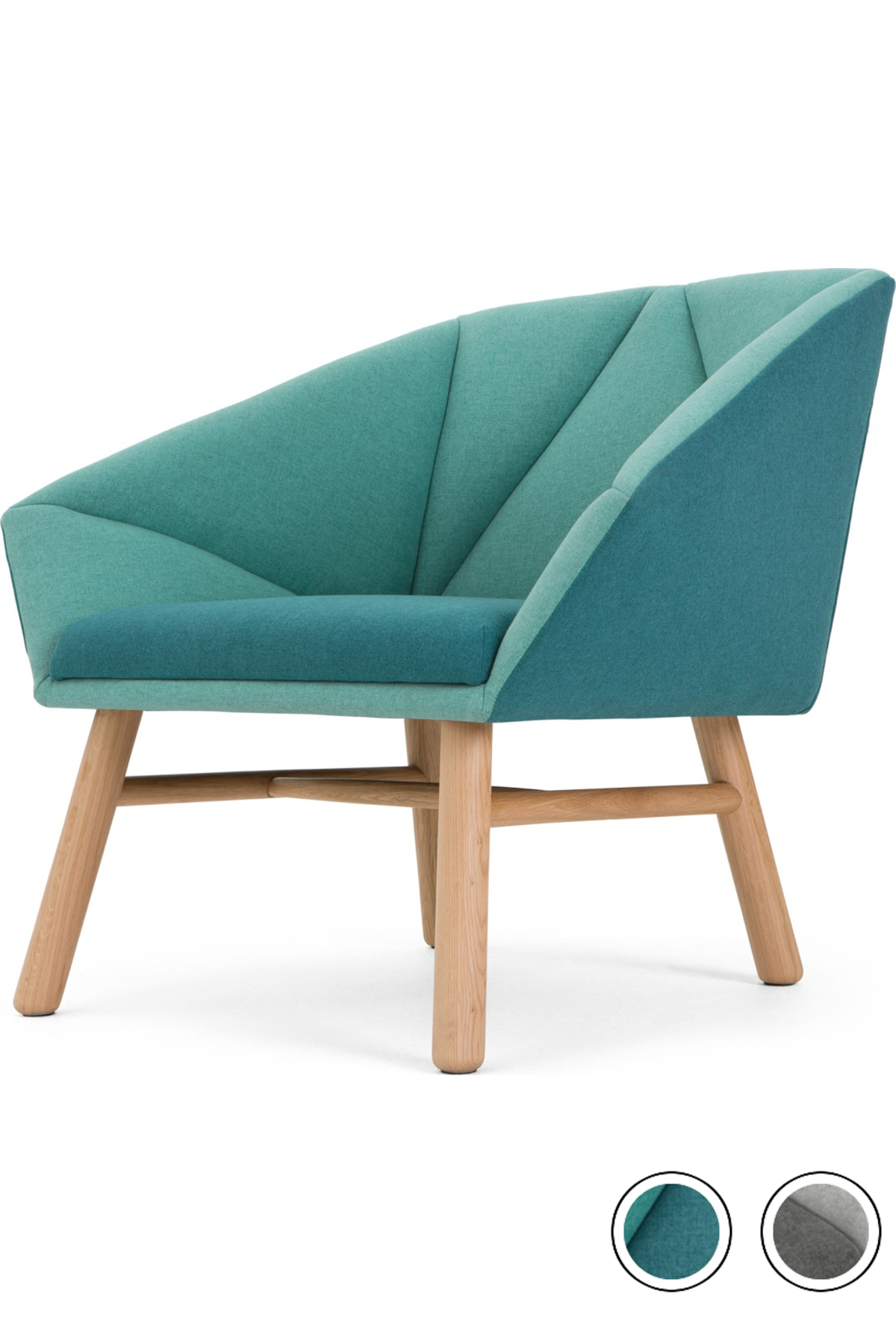 Best Facet Accent Armchair Mineral Blue And Emerald Green In 400 x 300