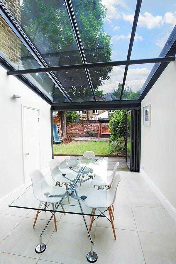 exceptional kuhle startseite dekoration modernesterrasse uberdachung mit aluminium chic #2: Einrichtung · moderne terrasse gläsernes dach glastisch