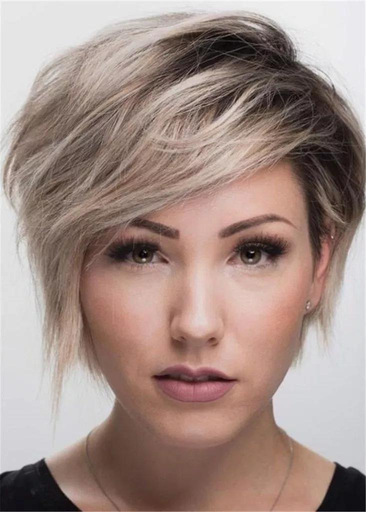 Короткие стрижки картинки женские овальное лицо