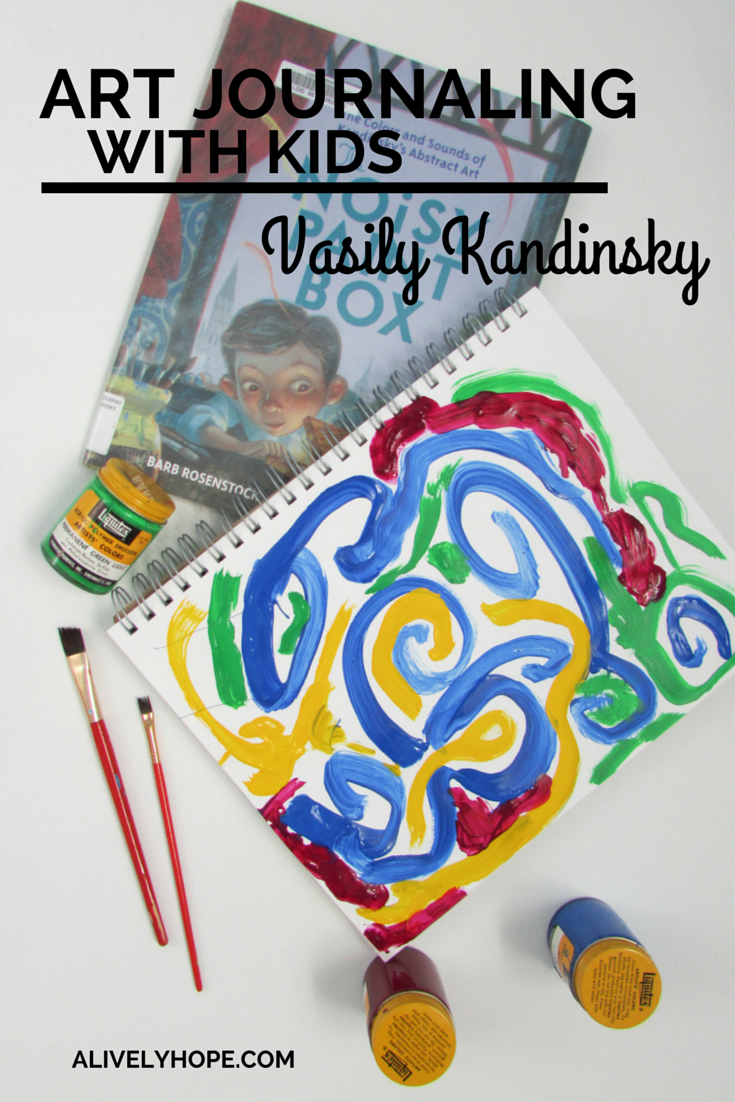 Art journaling with kids kandinsky art clases de arte for Kandinsky reggio emilia