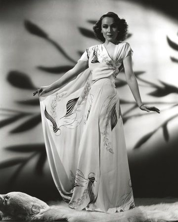 d5997de70 Dolores Del Rio Posed wearing White Floral Dress Photo by Movie Star News
