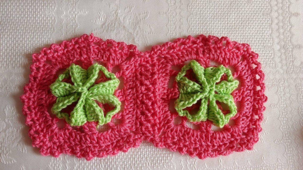 Crochet grannys square 3D paso a paso fácil y rápido