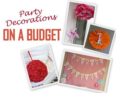 Party Decorations on a budget! @ thatcutelittlecake.blogspot.com