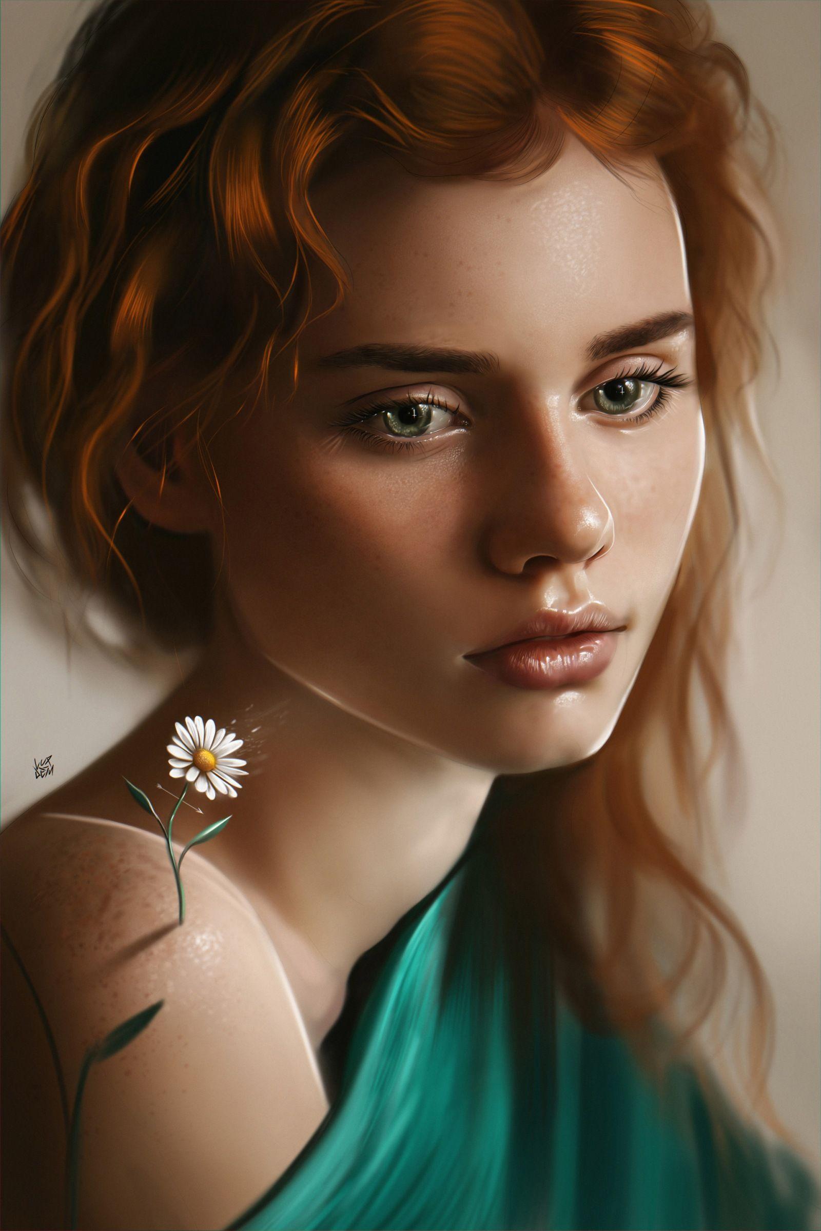 Картинки красивые с девушками нарисованные