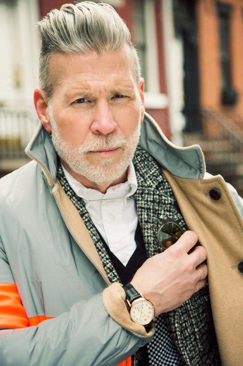 135a001f244 Nick Wooster wears a Tiffany CT60™ Calendar watch in 18k rose gold on a  black alligator strap.  TiffanySponsored