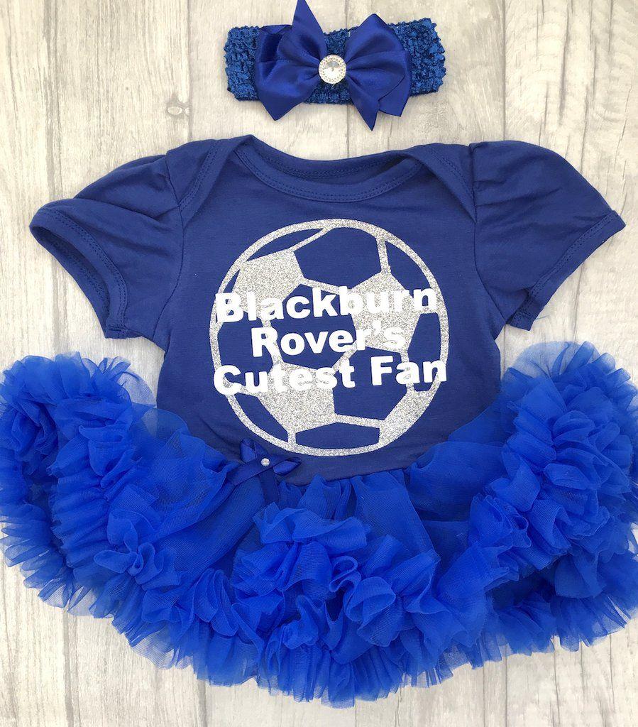 de664f769c1 Football baby girl blue Blackburn Rovers tutu romper