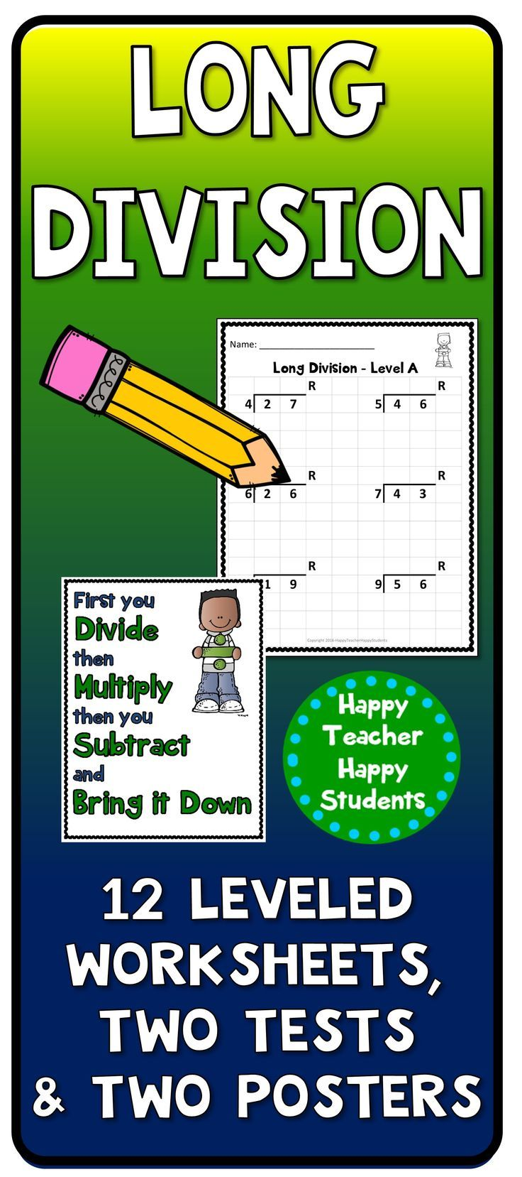 12 Leveled And Guided Long Division Worksheets Problem Are Written In A Large Font Size On Graph Pa Division Worksheets Long Division Long Division Worksheets [ 1657 x 736 Pixel ]