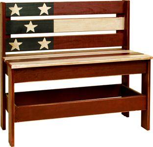 Americana Garden Bench..
