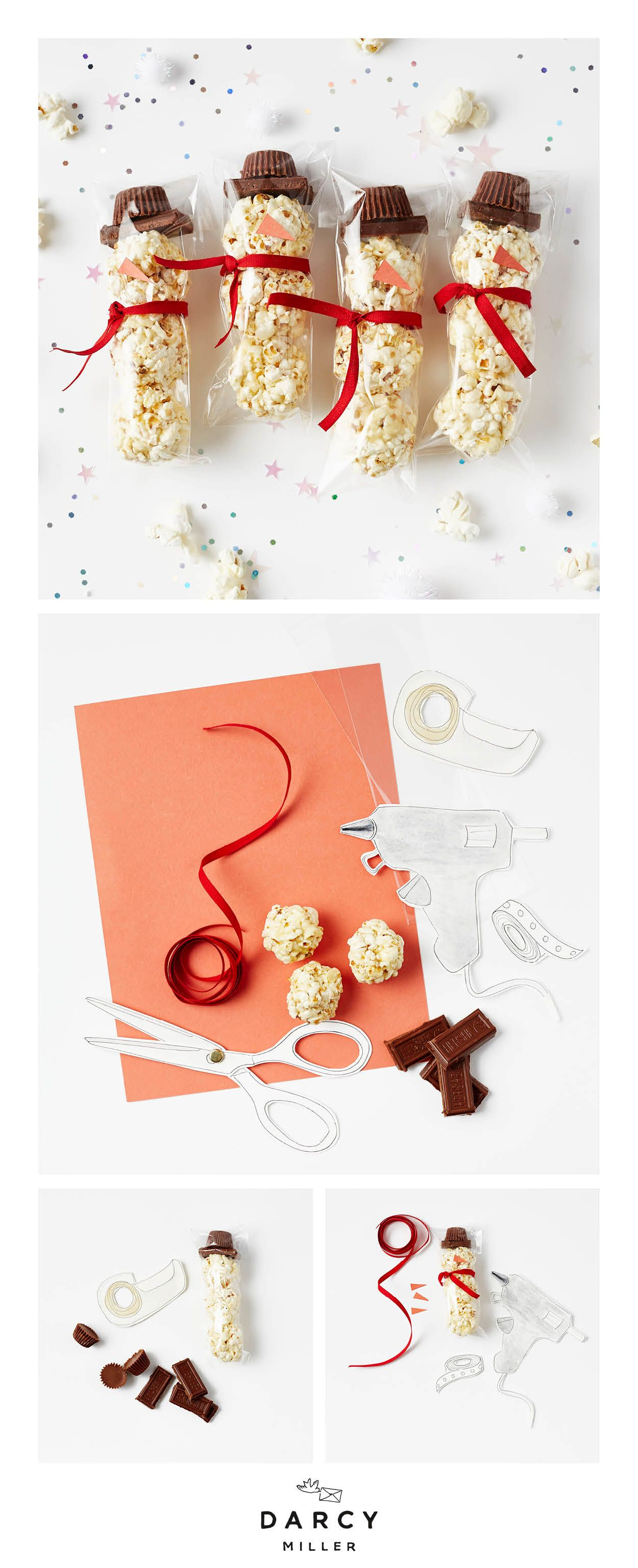 Make This Snowman Treat - Darcy Miller Designs Simple Instructions