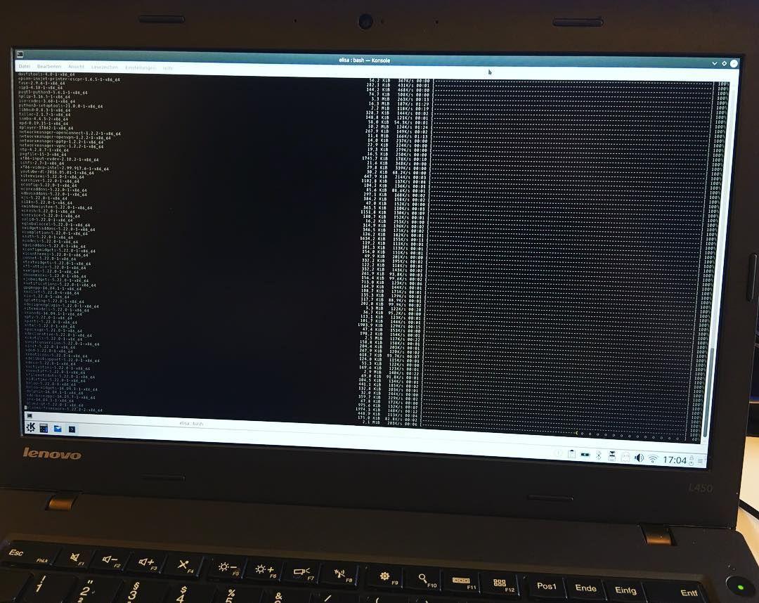 Und wieder wird ein #Thinkpad mit #KaOS #Arch #Linux aufgewertet