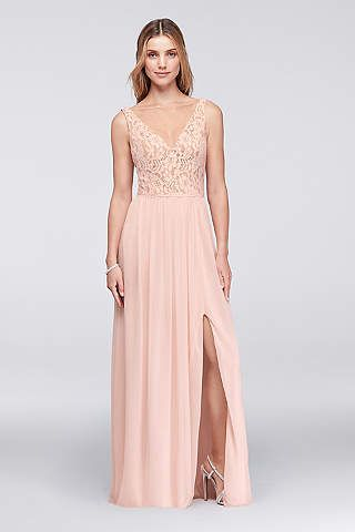 Long Bridesmaid Dresses & Full Length Gowns | David\'s Bridal | prom ...