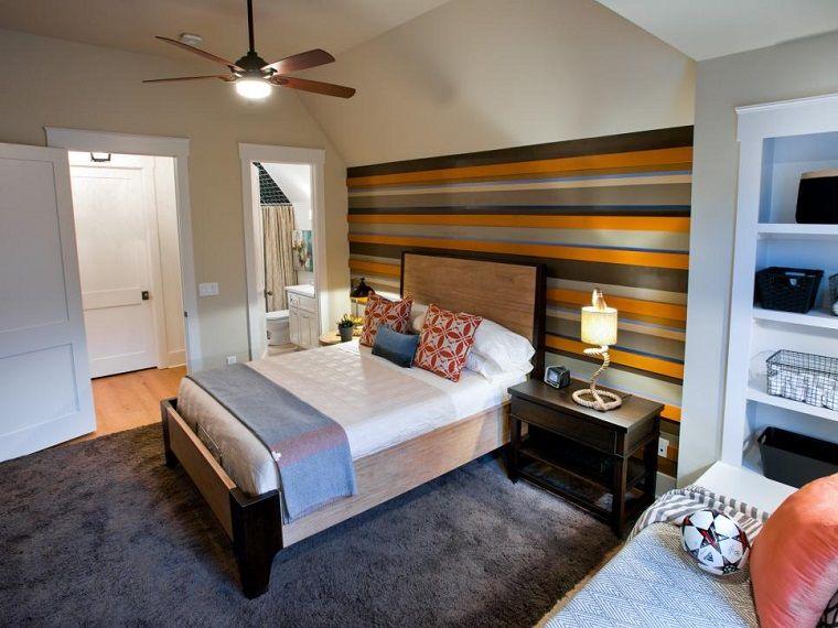 dormitorio para en colores oscuros