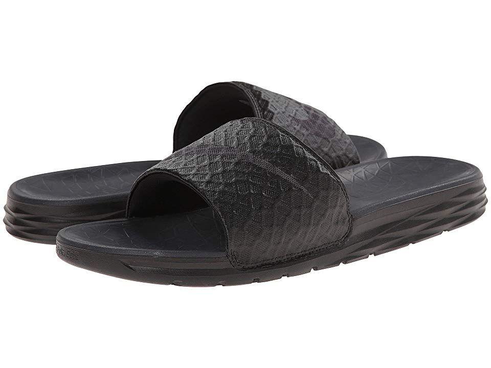 2a783a9c9c7173 Nike Benassi Solarsoft Slide 2 (Black Anthracite) Men s Slide Shoes.  Comfort comes with every step in the Nike Benassi Solarsoft Slide 2.