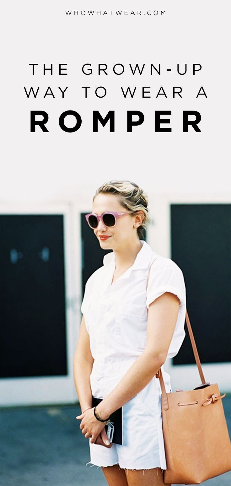 How to look like an adult when wearing a romper.